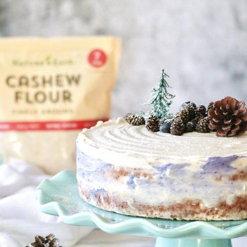 Winter Cashew Flour Sponge Cake